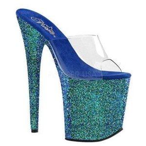 ✨NEW IN BOX blue green mermaid stripper heels